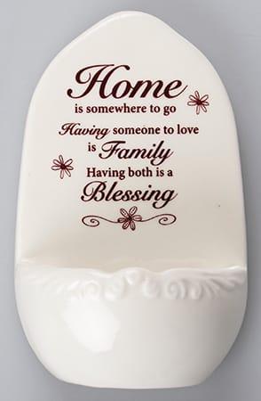 Home & Family Blessing Porcelain Font