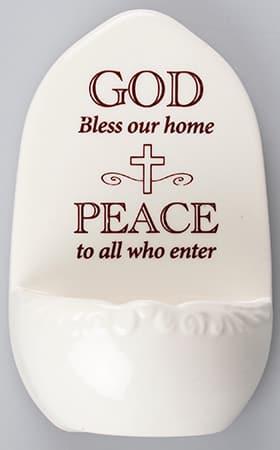 Home Blessing Porcelain Font