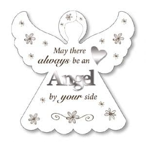 Angel By Your Side Wood Plaque