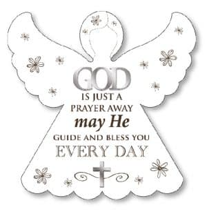 God Is Just A Prayer Wood Plaque
