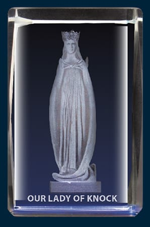 Our Lady Of Knock Crystal Block