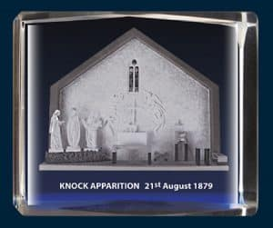Apparition Of Knock 1879 Crystal Block
