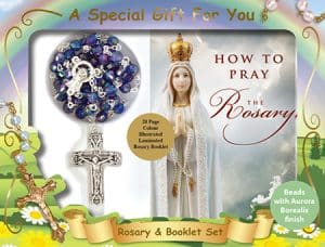 Rosary Bead & Booklet Set Blue
