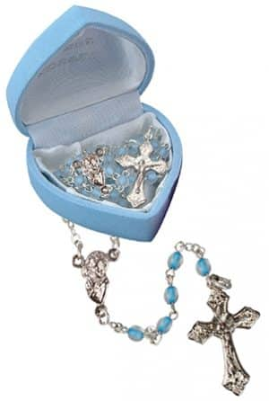 Glass Baby Rosary Bead Blue
