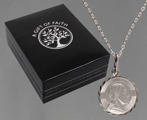 Sterling Silver Necklet Saint Christopher