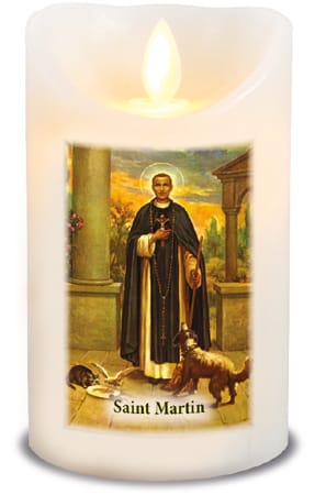 St. Martin LED Candle With Timer