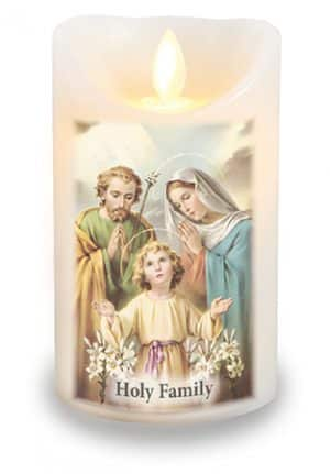 Holy Family LED Candle With Timer