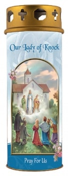 Our Lady Of Knock Candle With Windproof Cap