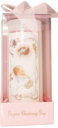 Christening Day Candle Girl Gift Box