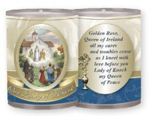 Our Lady Of Knock Plastic Votive Candle 4Pk