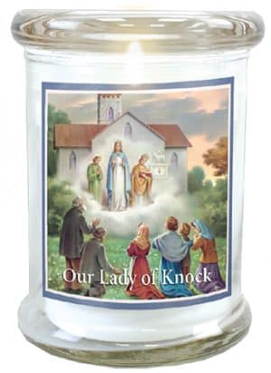 Our Lady Of Knock LED Glass Candle