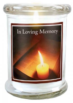 In Loving Memory LED Glass Candle Holder