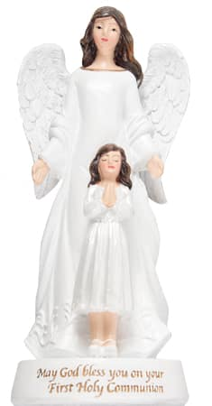 Communion Statue Guardian Angel Girl