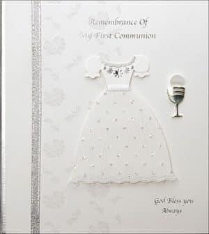 Communion Card Handcafted Keepsake Girl