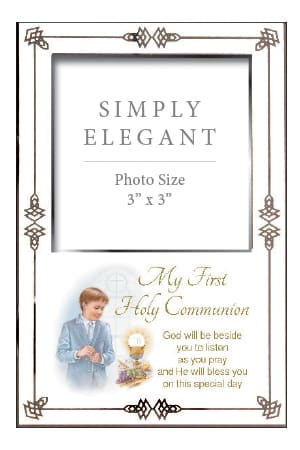 Communion Photo Frame Boy