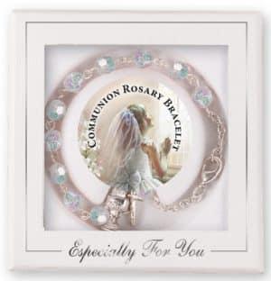 Communion Rosary Bracelet Acrylic