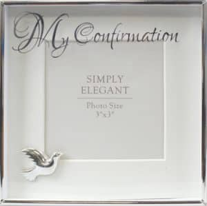 Confirmation Photo Frame Silver Finish