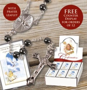 Confirmation Glass Rosary Beads Boy