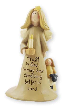 "Resin 4"" Angel – Trust in God"