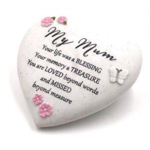Mum – Heart Shaped Stone