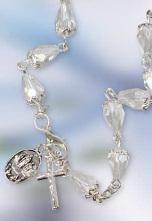 Knock Rosary Bracelet Crystal