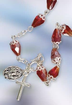 Knock Rosary Bracelet Red