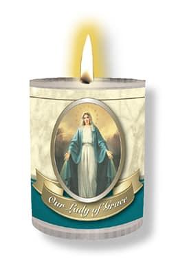 Miraculous Plastic Votive Candle 4Pk