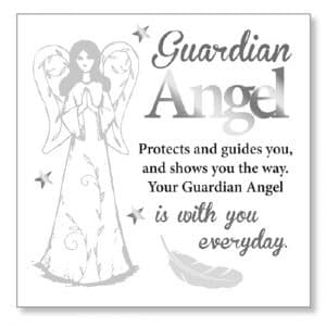 Guardian Angel Wood Plaque