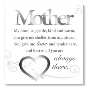 Mother Wood Plaque