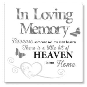 In Loving Memory Wood Plaque
