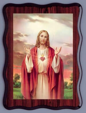Sacred Heart Laminated Picture