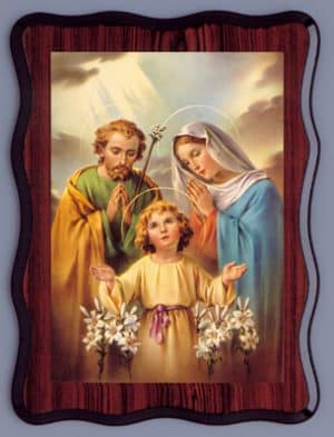 Holy Family Laminated Picture