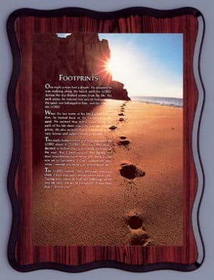 Footprints Laminated Picture