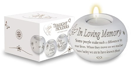 in loving memory candles holder