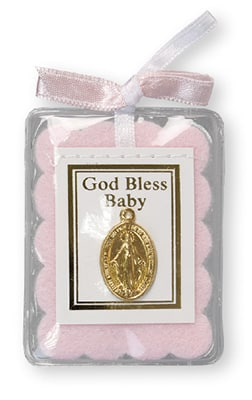 Baby Blessing  Miraculous Medal – Pink