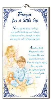 Praying Boy Wood Plaque