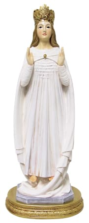 Our Lady Of Knock  Statue (Gold Coloured Base)