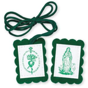 Green Scapular With Leaflet (Pack of 5)
