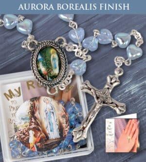 Glass Rosary – Lourdes