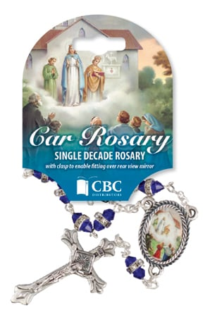 Knock Car Glass Rosary – Single Decade