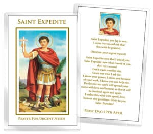 St. Expedite Laminated Prayer