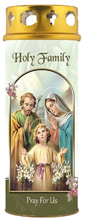 Holy Family Candle with Windproof Cap
