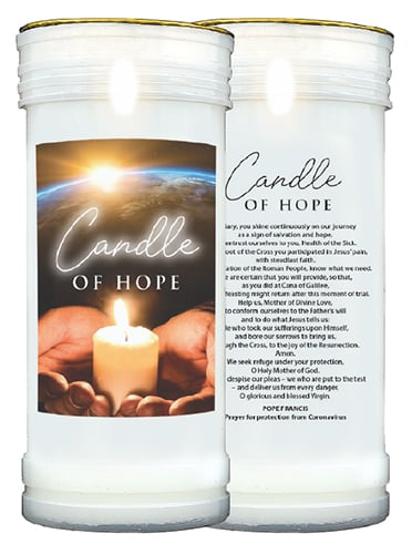 Corna virus prayer candle