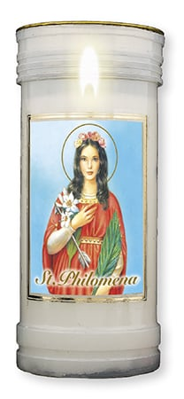 St. Philomena Candle