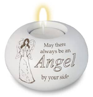 Resin Candle Holder  – Angel