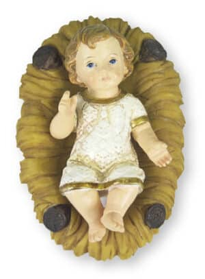Resin Baby Jesus & Manger
