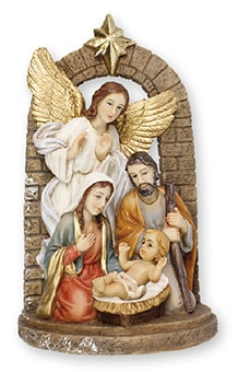 Resin Holy Family & Angel