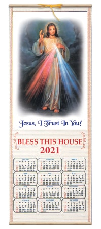 Wood Scroll 2021 Calendar – Divine Mercy