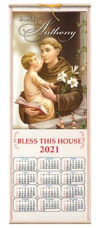 Wood Scroll  2021 Calendar  – St. Anthony