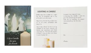 I Lit A Candle For You At Knock (Pack of 10)